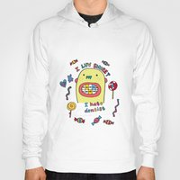 dentist Hoodies featuring I hate dentist by PINT GRAPHICS