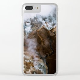 Kerlingarfjöll mountain range in Iceland - Aerial Landscape Photography Clear iPhone Case