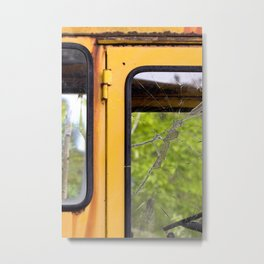 Junkyard School Bus Metal Print