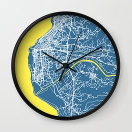 REGGIO CALABRIA Map - Italia | Blue | More Colors, Review My Collections Wall Clock