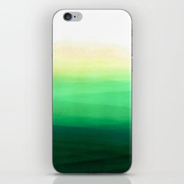 Dip dye background in shades of green iPhone Skin