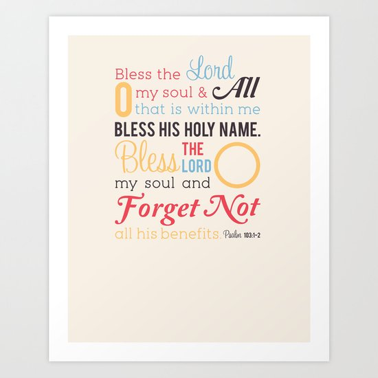 Forget Not Art Print