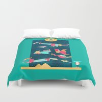 game of thrones Duvet Covers featuring Game On! by chyworks