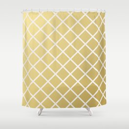 Pineapple Pattern Gold Shower Curtain