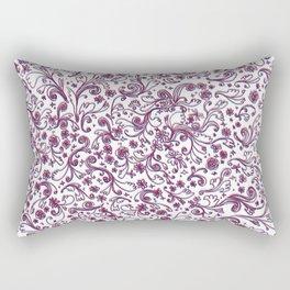 Rosie Posie (3D) Rectangular Pillow