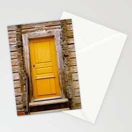 What lies behind the orange door? Stationery Cards