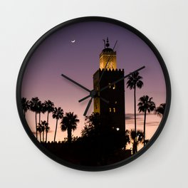 Koutoubia Moon - Marrakech Wall Clock