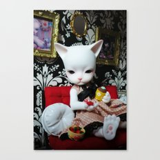 WEEKEND AT HOME (Cat Doll) Canvas Print