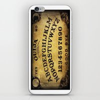 ouija iPhone & iPod Skins featuring Ouija Board by Lostfog Co.