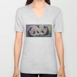 Baby Pandas Unisex V-Neck