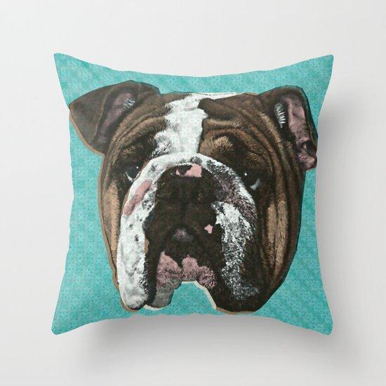 English Bulldog Print Throw Pillow