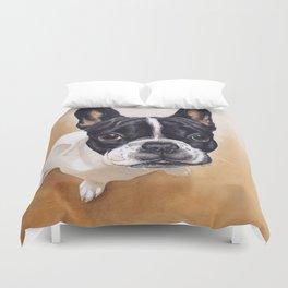French Bulldog Gouache Artwork Duvet Cover