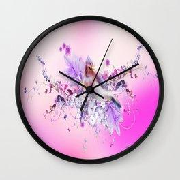 pink bird Wall Clock