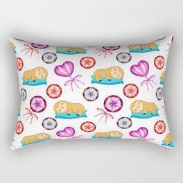 Funny happy sleeping lazy baby sloths, sweet vintage retro lollipops candy nursery pattern design Rectangular Pillow
