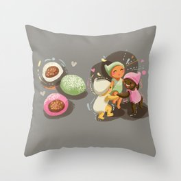 Mochi Babies Throw Pillow
