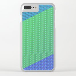 Folded pattern Clear iPhone Case