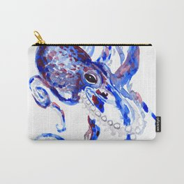 Blue Purple Octopus Carry-All Pouch