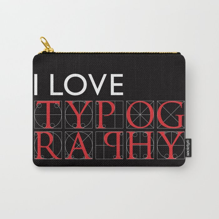 Typography Carry-All Pouch