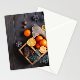Photo New year Mandarine Lemons Food Branches Coni Stationery Cards