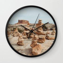 Rock Cairns of Moab Wall Clock