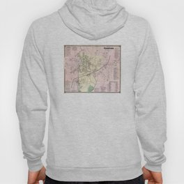 Vintage Map of Stamford CT (1867) Hoody