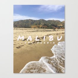 Malibu WITH TEXT Canvas Print
