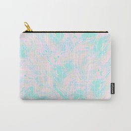 BLUE AND PINK PAINT SWIRL Carry-All Pouch