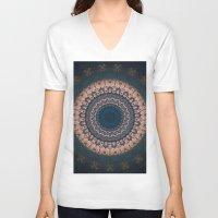 boho V-neck T-shirts featuring Boho by Jane Lacey Smith