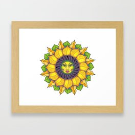 Sunflower Sunshine Girl by Amanda Martinson Framed Art Print