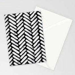 Painterly Herringbone Stationery Cards
