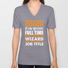 Cheerleading Coach Wizard Unisex V-Neck