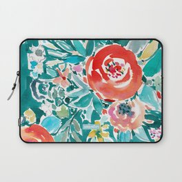 IN FLOW FLORAL Orange Watercolor Rose Laptop Sleeve