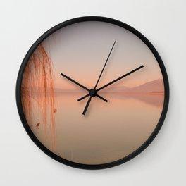 Autumn Lake Sunset Wall Clock