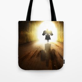 Angel In A Tunnel Of Light Tote Bag
