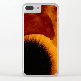 abstract 79 orange Clear iPhone Case