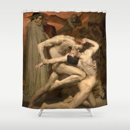 DANTE AND VIRGIL - WILLIAM-ADOLPHE BOUGUEREAU Shower Curtain