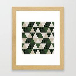 Hunter Green camping cabin glamping cheater quilt baby nursery gender neutral Framed Art Print