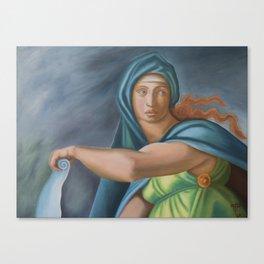 Sibila Delphica. Sistine Chapel. Michael Angelo. Canvas Print