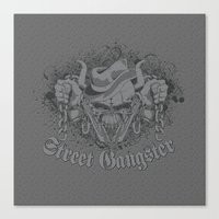 gangster Canvas Prints featuring Street Gangster by MaNia Creations