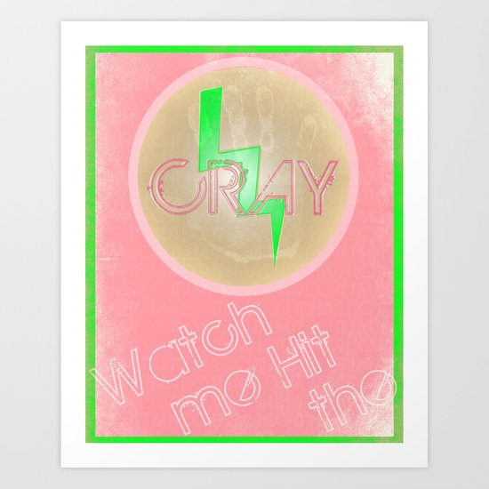 Cray Button - Punch in the Face Art Print