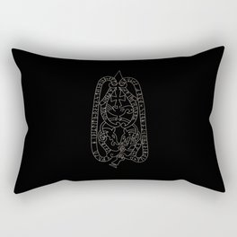 Old Swedish viking runestone Rectangular Pillow