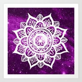 Purple Galaxy Mandala Art Print
