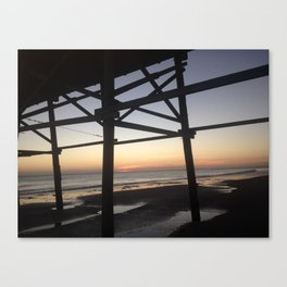 Sunset at Wrightsville Beach Canvas Print