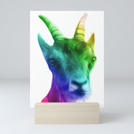 Rainbow Goat Mini Art Print