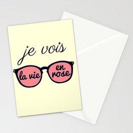 Je Vois la Vie en Rose Stationery Cards