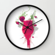 Sorbet fraises chantilly painting colors fashion Jacob's Paris Wall Clock