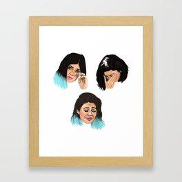 Krying Kylie Jenner Framed Art Print