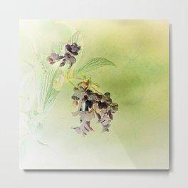 Blossom Inversion Metal Print