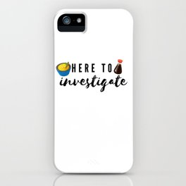 Type Five Enneagram Catch Phrase iPhone Case