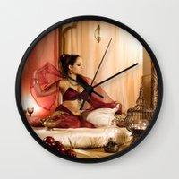 jasmine Wall Clocks featuring Jasmine by Julie-Chantal